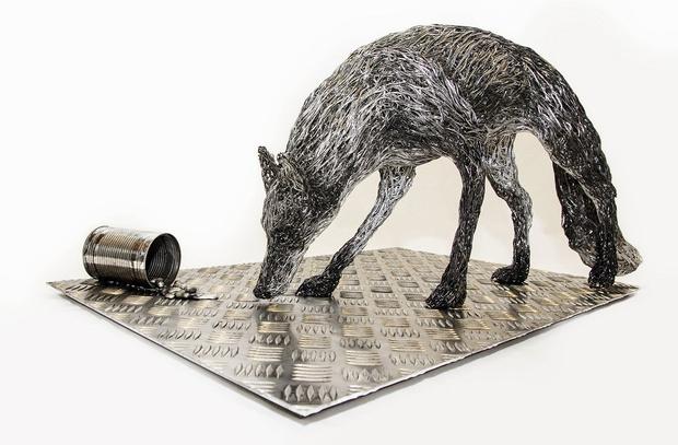 Фото №1 - Англичанка делает невероятно реалистичные скульптуры животных из проволоки (ГАЛЕРЕЯ)