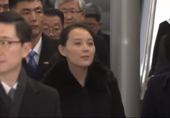 сестра ким чен ына прибывает олимпиаду сенсационное видео