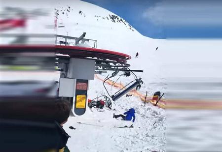 Жуткая авария на канатной дороге в Грузии (ВИДЕО)