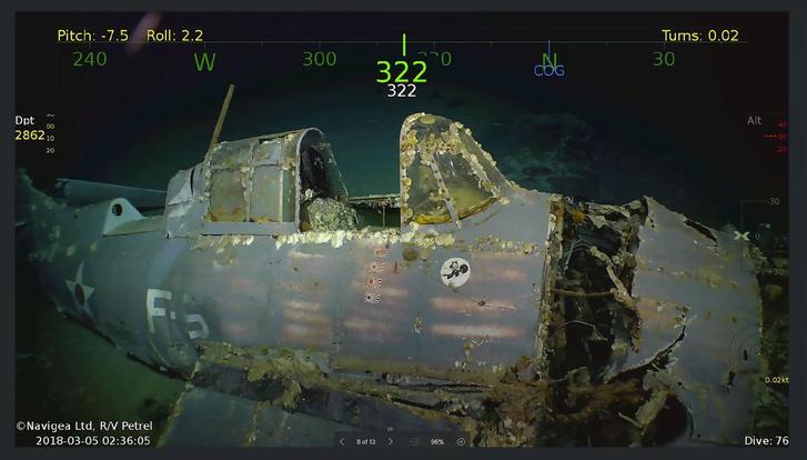 Фото №1 - Сооснователь Microsoft исследует затонувший авианосец времен Второй мировой войны (ВИДЕО)
