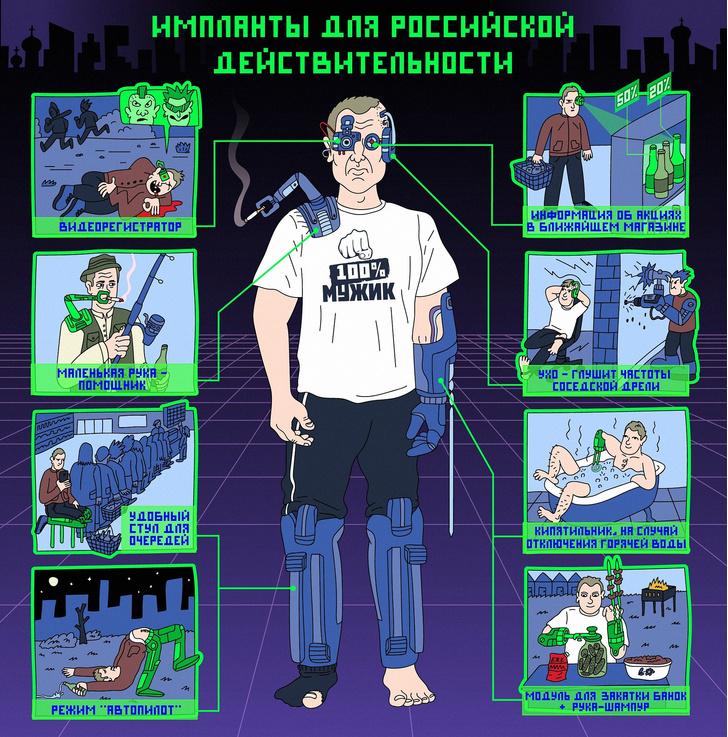 Фото №2 - Паблик «Кибердянск»: ироничные картинки о технологиях будущего в российской глубинке