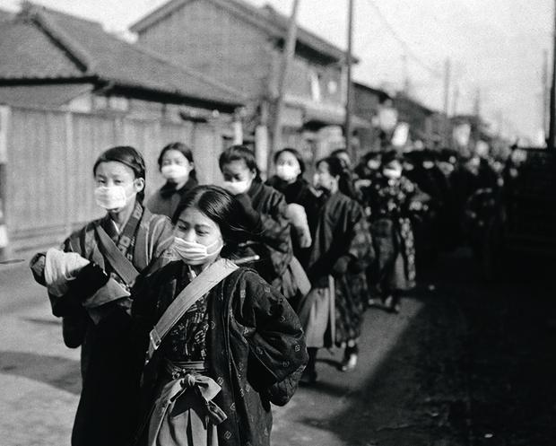 Японские школьницы. 1920 год