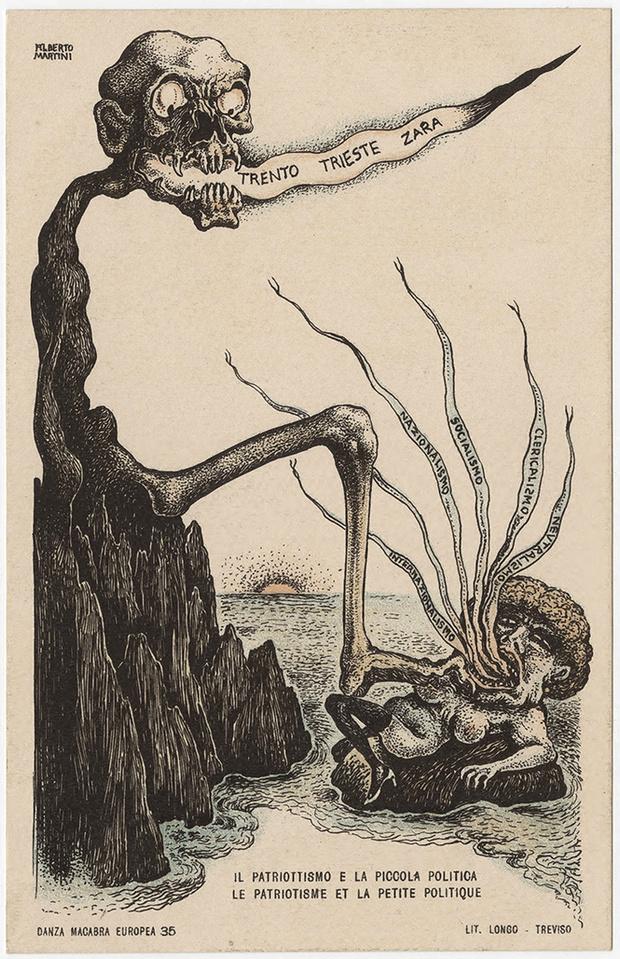 Фото №38 - Жутковатые карикатуры Первой мировой
