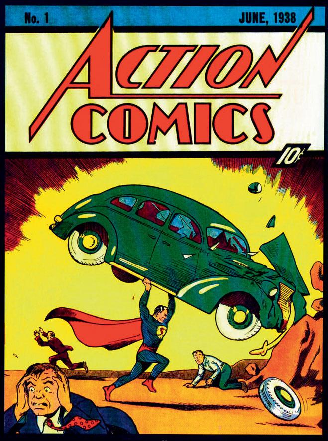 Action Comics с Суперменом на обложке