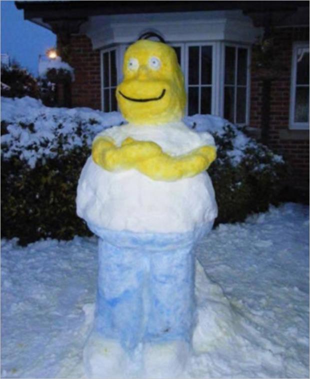 Фото №2 - 6 идей, которые помогут превратить снеговика в произведение искусства