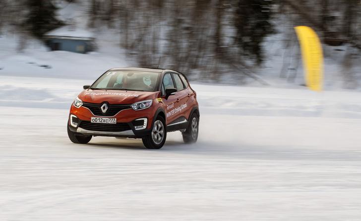 Фото №5 - Нефигурное катание: боком по льду на полноприводных Renault