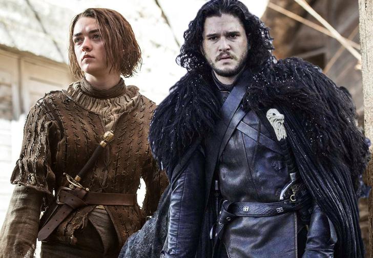 Фото №1 - Джон Сноу и Арья Старк сделали прогнозы на финал «Игры престолов»