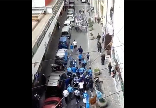 Фееричное столкновение фанатов «Наполи» и «Ювентуса» в Турине (ВИДЕО)