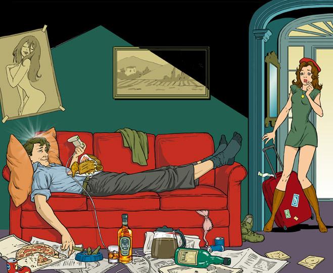 Лежать на диване, ругаться и есть жирное — полезно, а убираться и часто мыться