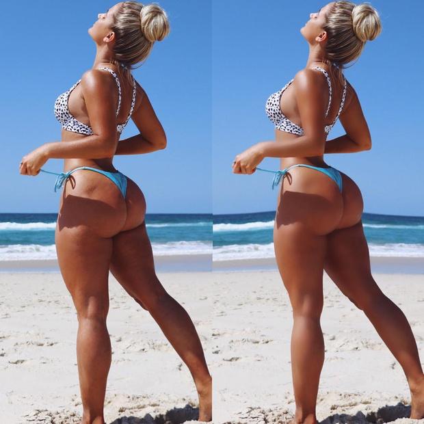 Фото №1 - Тест на внимательность! Модель показала свой снимок в бикини до и после фотошопа — найди все отличия