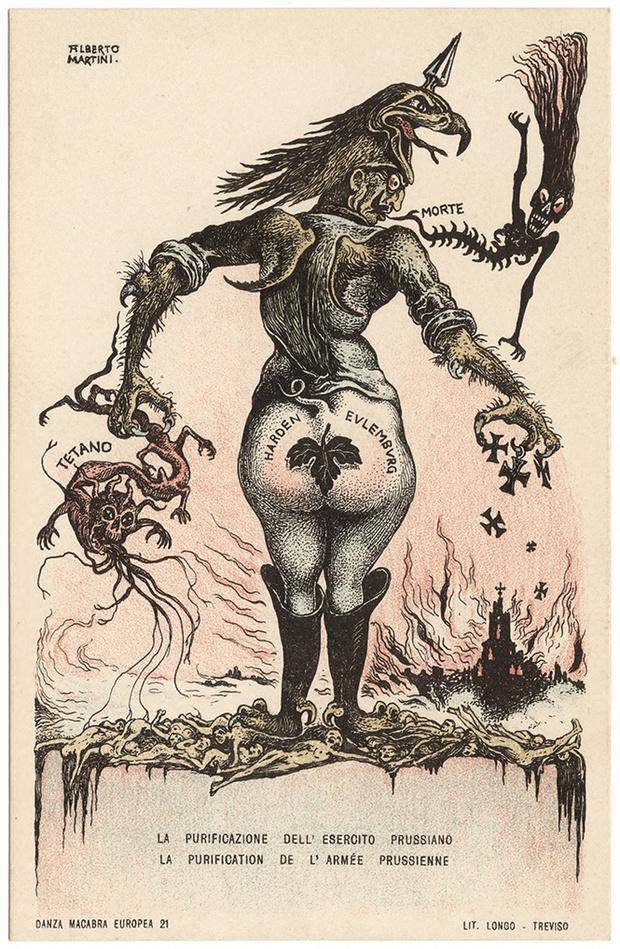 Фото №11 - Жутковатые карикатуры Первой мировой