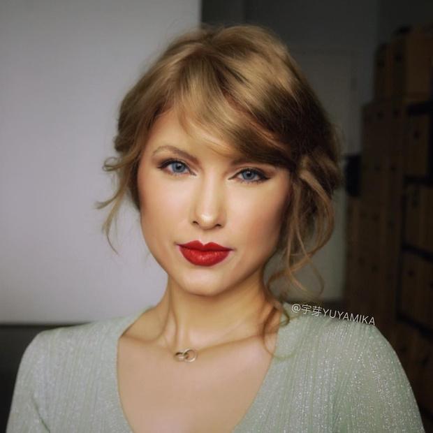 Фото №3 - Бьюти-блогерша из Китая превращает себя в знаменитостей с помощью макияжа
