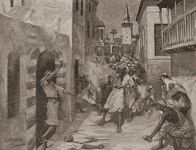 Антихристианская демонстрация в Дамаске. 1860 г.