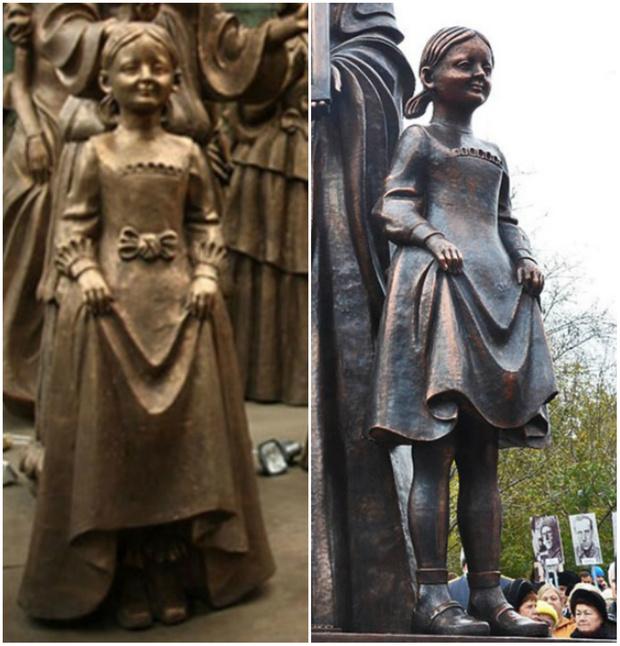 Фото №2 - Церетели уличили в клонировании: сравни памятник жене декабриста и жене ополченца