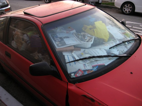 Машина должна быть чистой изнутри.