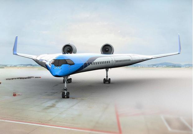 Фото №1 - Авиакомпания KLM показала концепт самолета типа «летающее крыло» и даже грозится тестовыми полетами в этом году (видео)