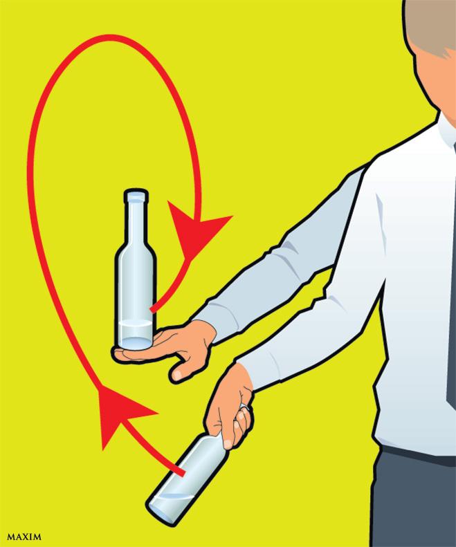 Жонглировать бутылкой