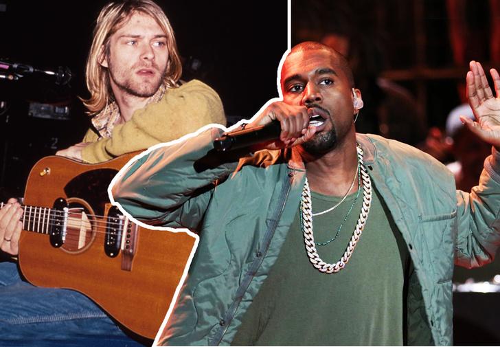 Фото №1 - Канье Уэст перепел хиты Nirvana (видео)