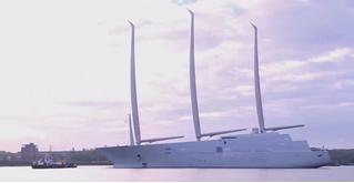 Самая большая яхта в мире отправляется в плавание!