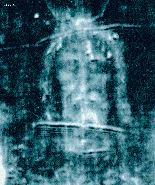 Рентгеновский снимок Плащаница Иисуса