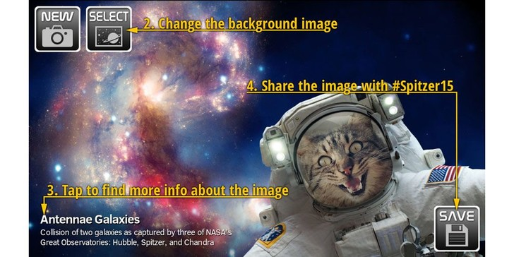 Фото №1 - NASA выпустило приложение для съемки селфи в космосе