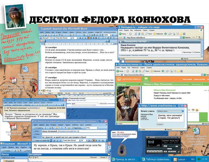Десктоп Федора Конюхова