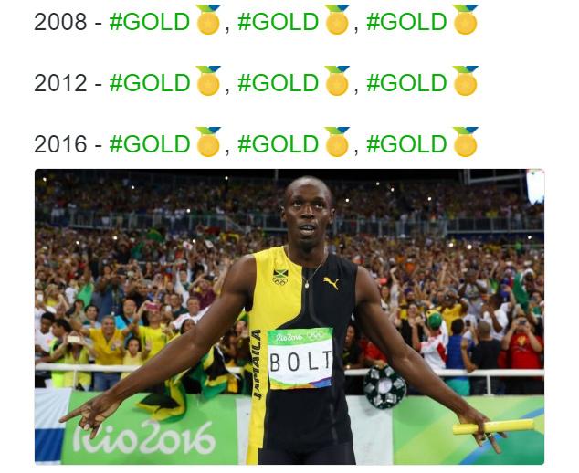 Золотые медали Усэйна Болта