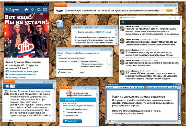 Фото №1 - Что творится на экране компьютера главы Пенсионного фонда Антона Дроздова