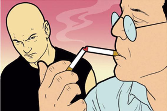 защититься хулиганов помощью чайного пакетика сигареты других подручных