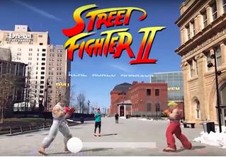 Безопасные драки на улице: Street Fighter 2 выпустили в дополненной реальности (ВИДЕО)