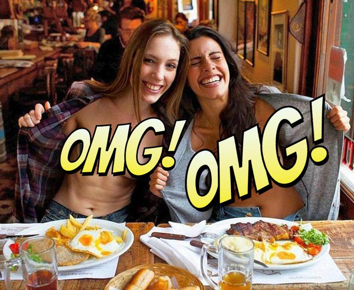 Фото №1 - Девушки фотографируются в ресторанах с обнаженной грудью! Самый волнующий тренд жаркого лета