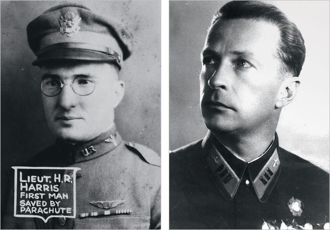 Лейтенант Гаррис и летчик-испытател Михаил Громов