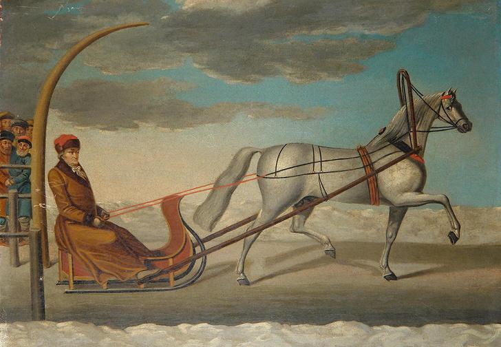 Граф Орлов едет на жеребце Барсе I