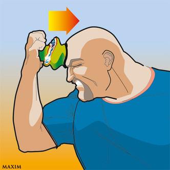 Фото №3 - Как эффектно расплющить пивную банку лбом