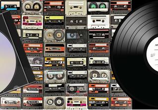 Эксперты подсчитали, как менялись продажи CD, LP, кассет и аудиофайлов последние 40 лет (иконографика)