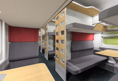 РЖД показали прототипы интерьеров новых плацкартных вагонов (галерея)