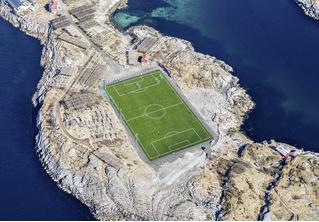Возможно, это самое одинокое футбольное поле в мире