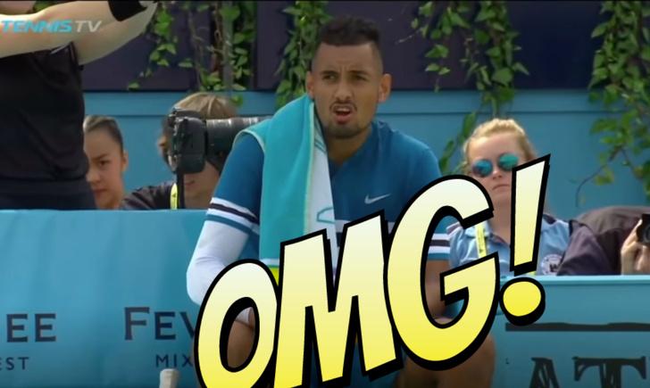 Фото №1 - Теннисист оштрафован на 15 000 евро за неприличный жест с бутылкой во время матча