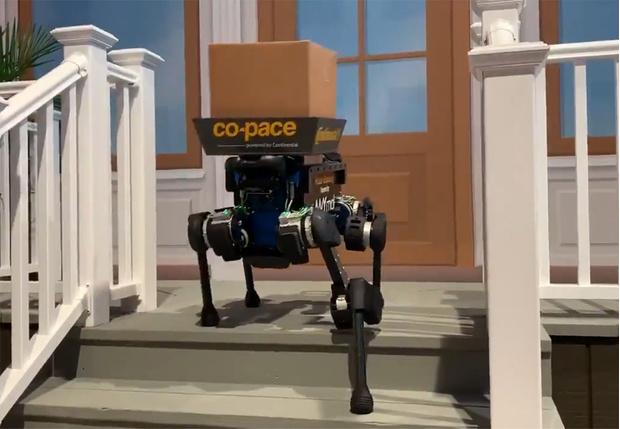 Фото №1 - На выставке CES показали робота-собаку-курьера, который может найти твой дом (видео)