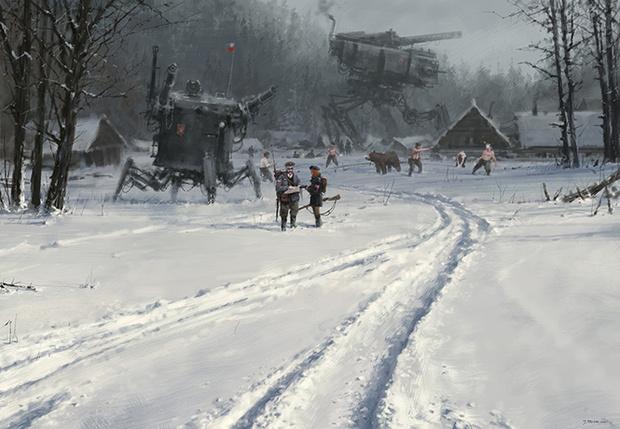 Фото №1 - Художник недели: Якуб Розальски и его снежный стимпанк
