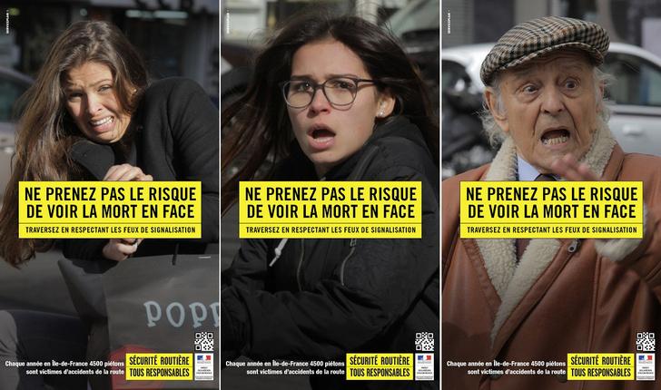 Фото №1 - Твое лицо, когда тебя сбивает машина: жесткая акция против пешеходов-нарушителей