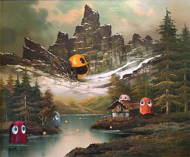 Фото №6 - Художник скупает никому не нужные полотна и делает их веселыми!