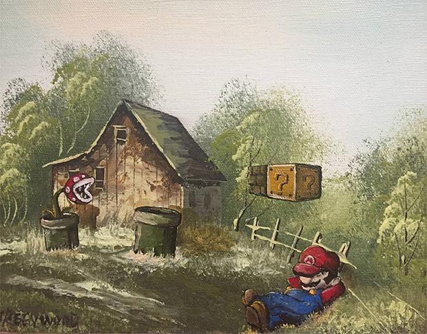 Фото №19 - Художник скупает никому не нужные полотна и делает их веселыми!