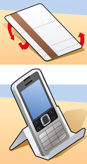 Подставка под телефон из пластиковой карты