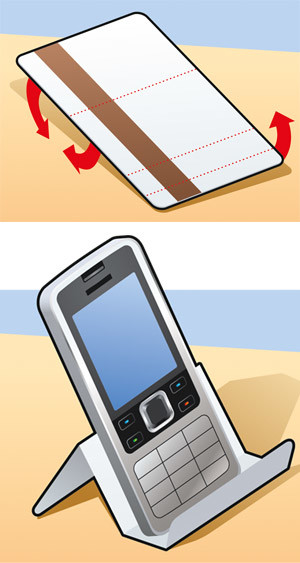 Установить на стол телефон