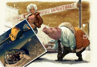 Художник недели: фантастика, фэнтези и девушки в картинах Вальдемара фон Козака