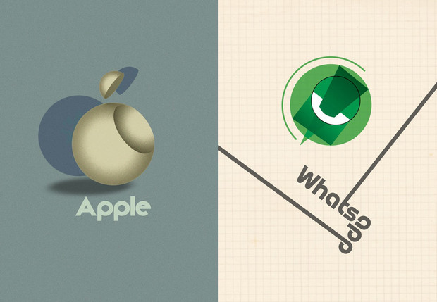 Фото №1 - Дизайнеры нарисовали логотипы современных брендов в стиле баухаус