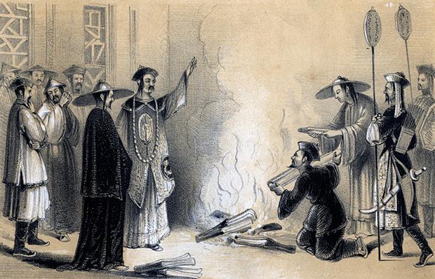 Цинь Шихуанди приказывает сжечь все книги