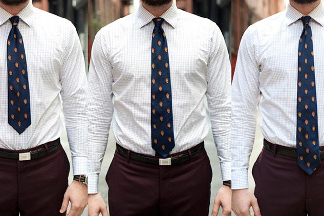 Слишком длинный или короткий галстук