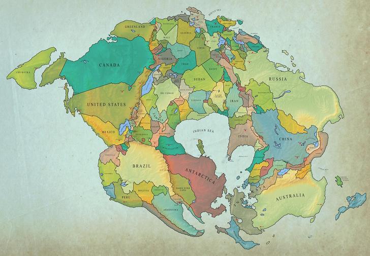 Фото №4 - Как будет выглядеть Земля, если материки опять сойдутся в один суперконтинент